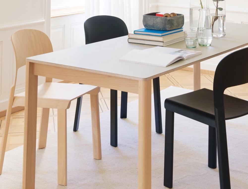 hochparterre design der tisch zum stuhl. Black Bedroom Furniture Sets. Home Design Ideas